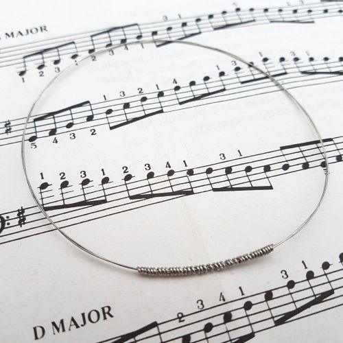 Guitar string bracelet bangle Size M (75mm diameter) PD043