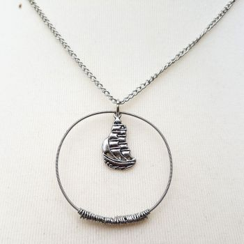 "Guitar string necklace ""Albion"" PDN002"