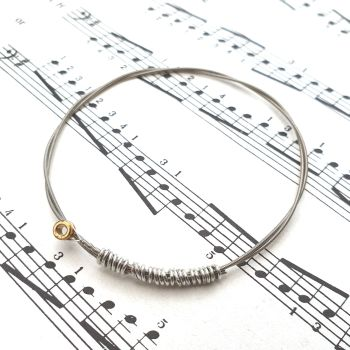 Guitar string bracelet bangle Size XXS (60mm diameter) CB012