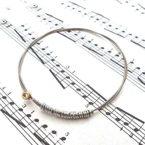 Guitar string bracelet bangle Size XXS (60mm diameter) CB012