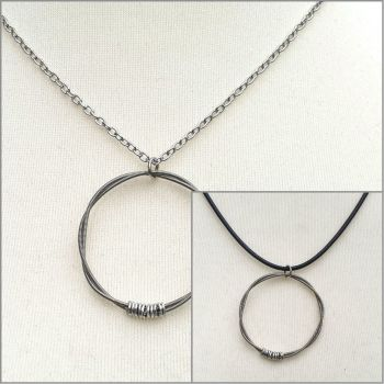 Guitar string necklace CBN002