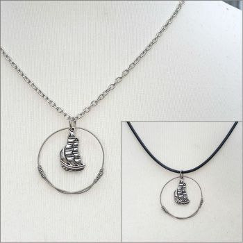 """Albion"" guitar string necklace PDN007"