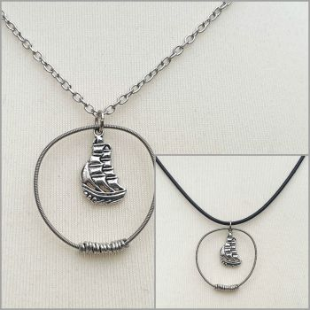 """Albion"" guitar string necklace PDN009"