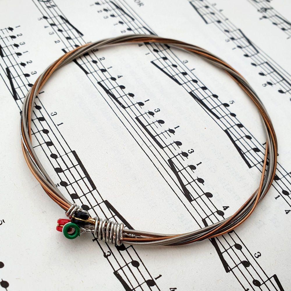Guitar string bracelet Size L GSB022