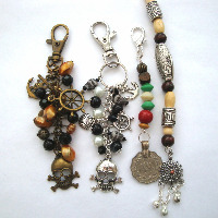 Pirate bag charms, hair beads etc