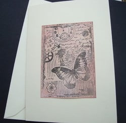 C001 Steampunk Butterfly card
