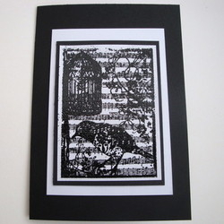 C002 Black & White Vintage Birdcage card