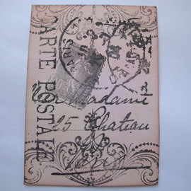 ACEO 1 Carte Postale art card