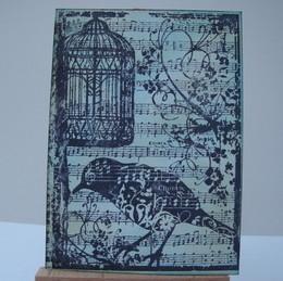 ACEO 2 Vintage Birdcage art card