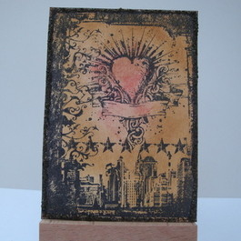 ACEO 4 Heart of the City art card