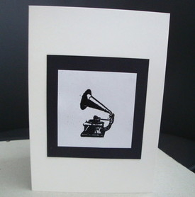 C004 Vintage gramophone card