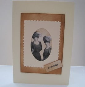 C005 Vintage Friends collage card