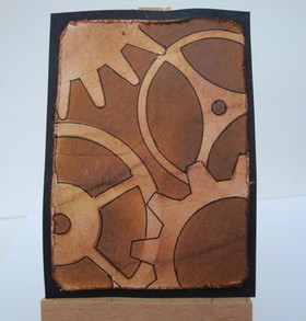 ACEO 5 Steampunk Cogs & Gears art card