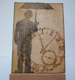 ACEO 7 Time Waits for No Man art card