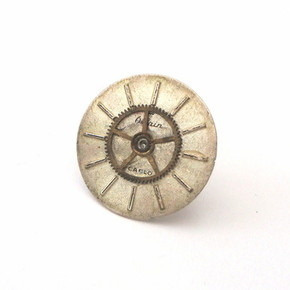 Steampunk vintage watch face & cog earring SE009