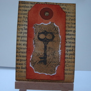 ACEO 13 Vintage style key original art card