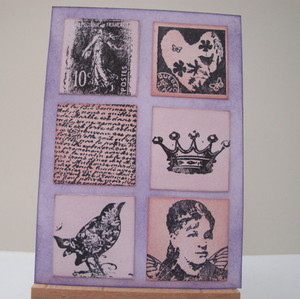 ACEO 17 Purple Inchies art card