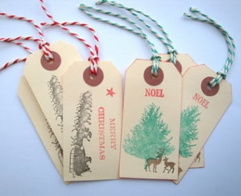 GT008 Handmade Christmas luggage label gift tags