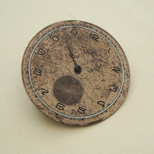 SBR012 Steampunk vintage watch face brooch