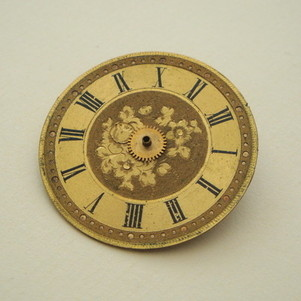 SBR013 Steampunk vintage watch face brooch