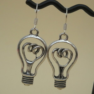 Steampunk lightbulb charm earrings SE016