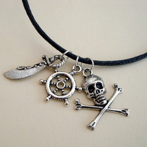 PN125 Pirate charm necklace