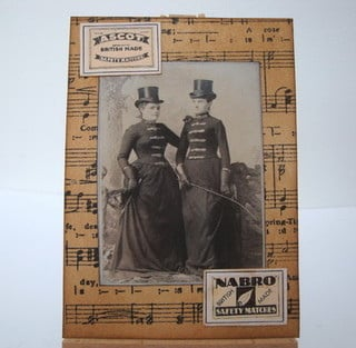 ACEO 24 Victorian women collage art card