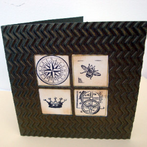 C011 Vintage steampunk style card