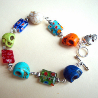 Mexican Day of the Dead inspired bracelet CB001