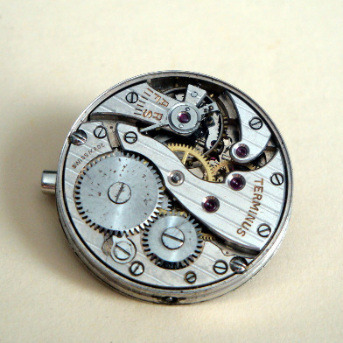 Steampunk vintage watch movement brooch SBR015