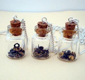 steampunk bottle necklaces