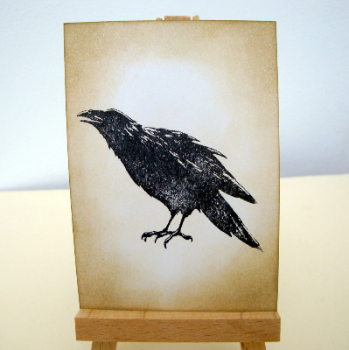 ACEO 26 Raven or crow art card