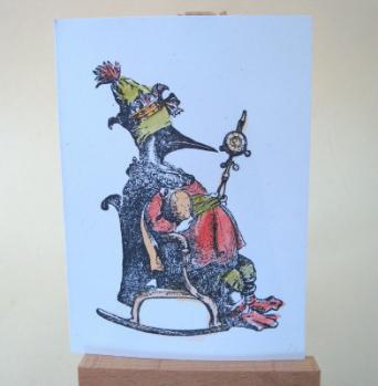 ACEO 29 Emperor penguin tinted art card