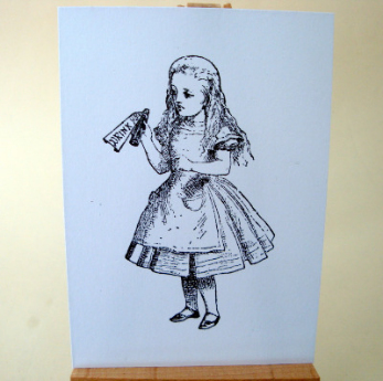 ACEO 35 Alice in Wonderland Drink Me art card