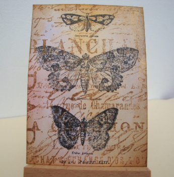 ACEO 37 Vintage butterflies art card