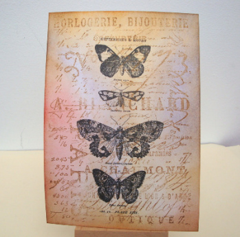 Postcard A6 art card Vintage Butterflies PC06