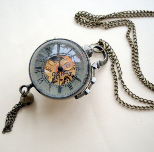 mechanical watch necklace