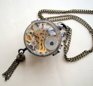 mechanical watch necklace back