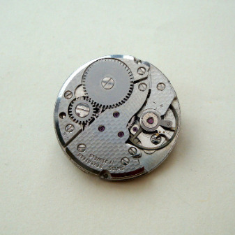 Steampunk watch movement pin brooch SBR016