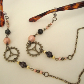 Beaded Steampunk glasses spectacles chain GC006