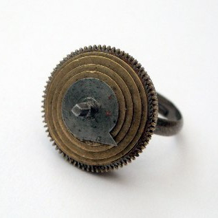 Steampunk watch parts and cog ring SR020