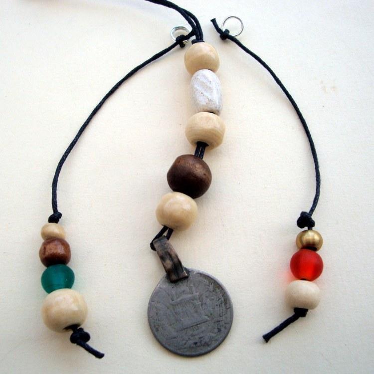 PBB002 Set of 3 pirate bandana/hair beads