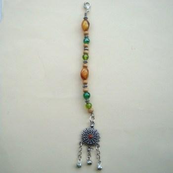 PBB005 Pirate bandana/ hair beads (green)