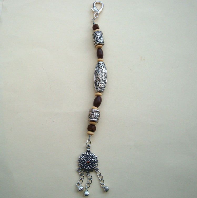 PBB006 Pirate bandana/ hair beads