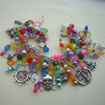 'Plunder' pirate charm bracelet PCB081