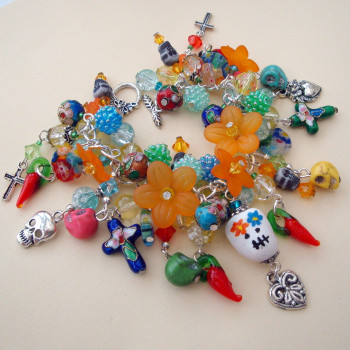 Day of the Dead charm bracelet CCB055