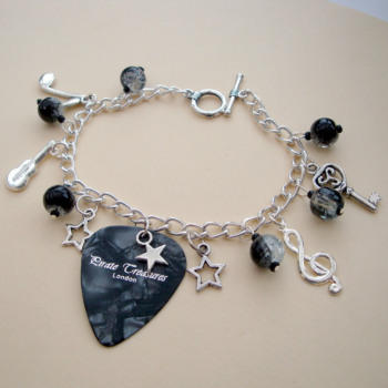 Rock'n'roll Star Plectrum charm bracelet CCB038