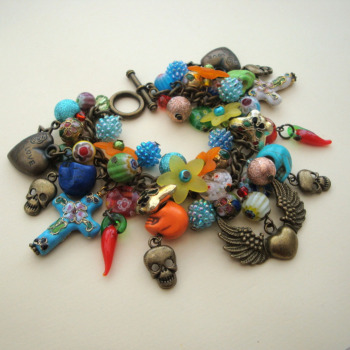 Day of the Dead charm bracelet CCB053