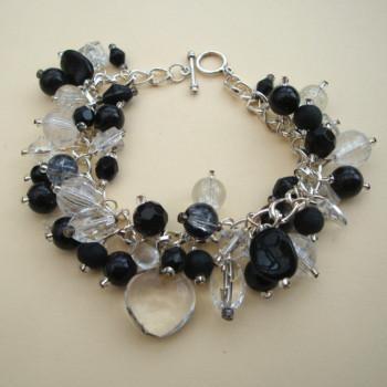 'Sparkle!' handmade beaded charm bracelet CCB015