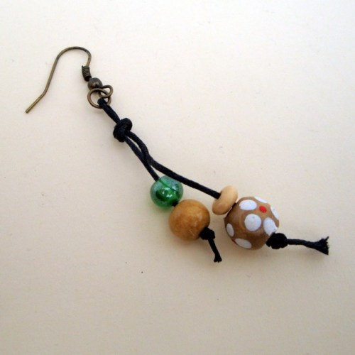 PE035 Pirate bead single earring
